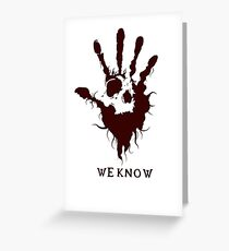 Dark Brotherhood Skyrim - We Know Greeting Card