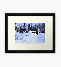 Dad, I Found The Car! Framed Print