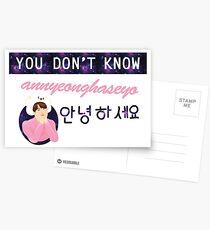 Annyeong Postcards