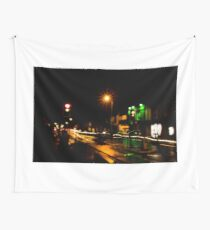 Street Crossing Light Painting  Wall Tapestry