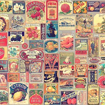 Vintage Retro Labels Set by 3vaN