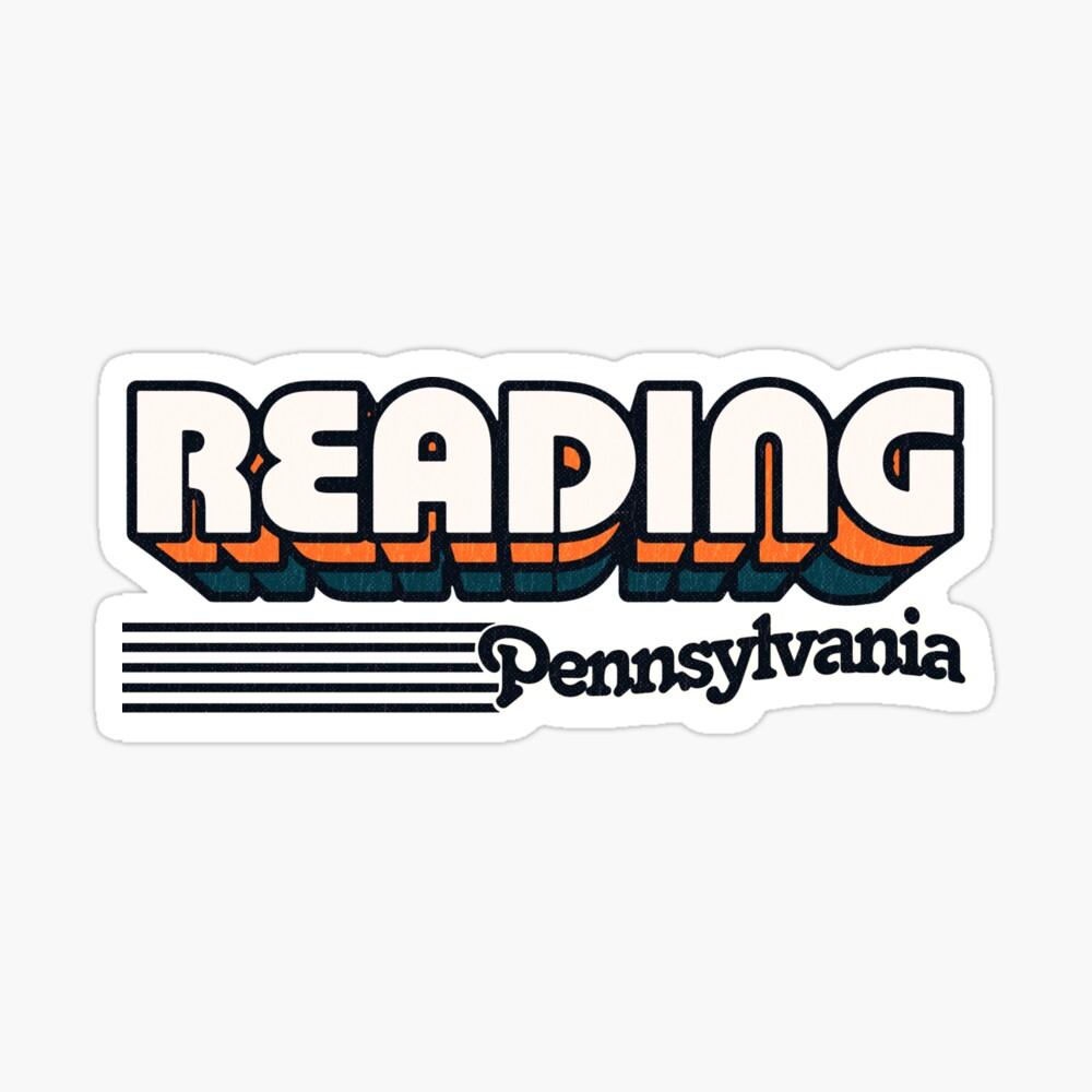Reading, Pennsylvania | Retro Stripes Sticker