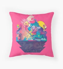 Red In Tooth And Claw Throw Pillow