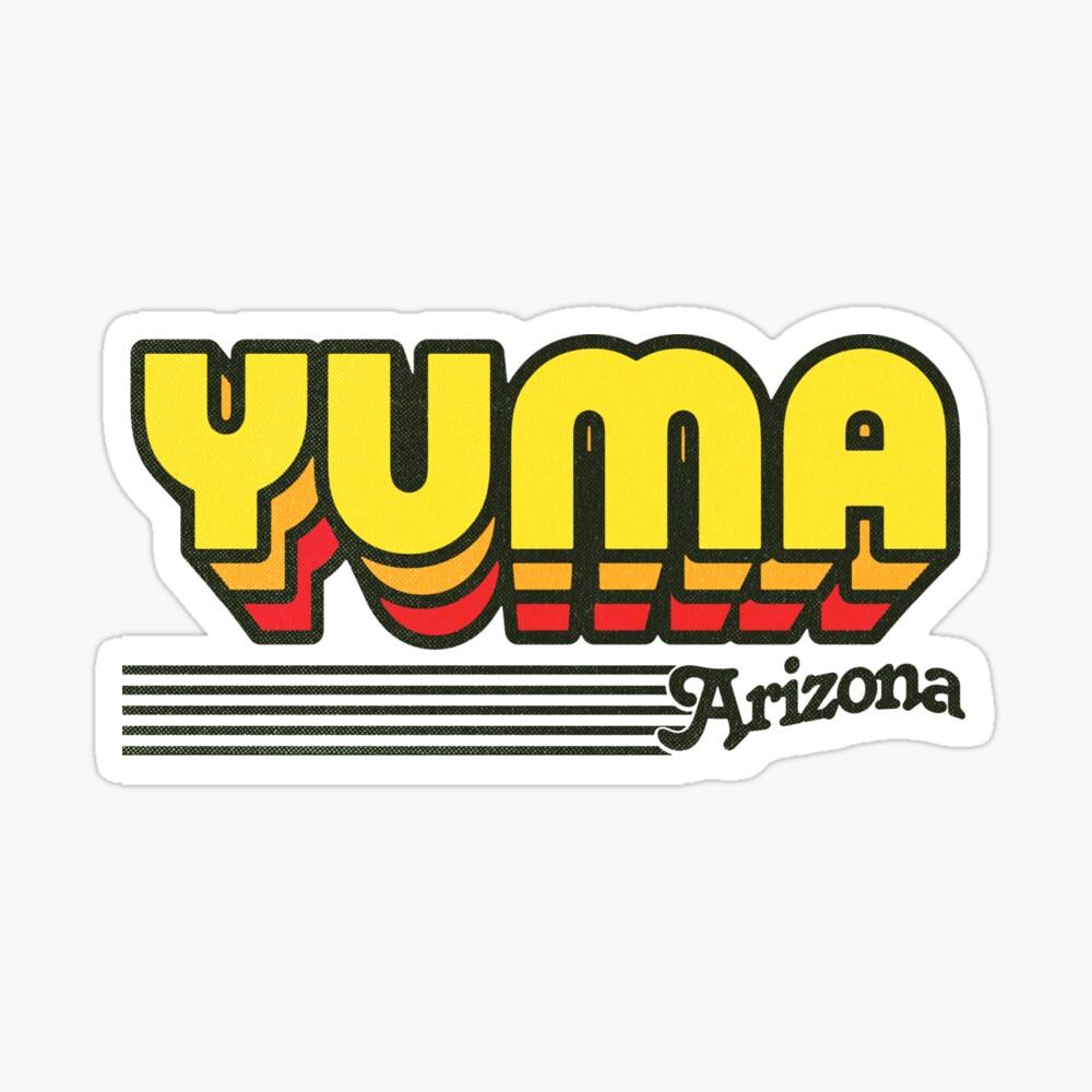 Yuma, Arizona | Retro Stripes Sticker