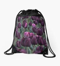 Tulip field Drawstring Bag