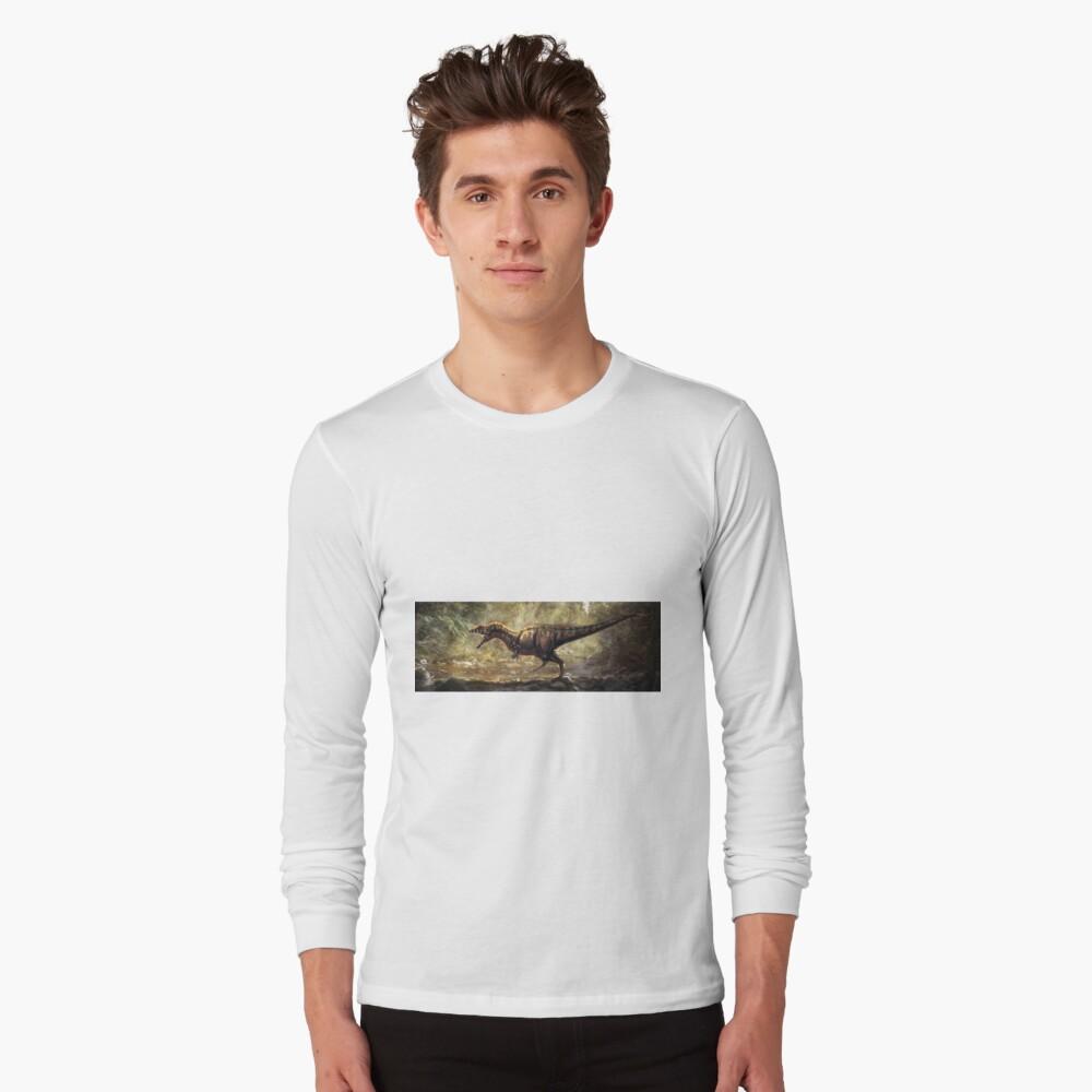 Allosaurus Fragilis restaurado Camiseta de manga larga