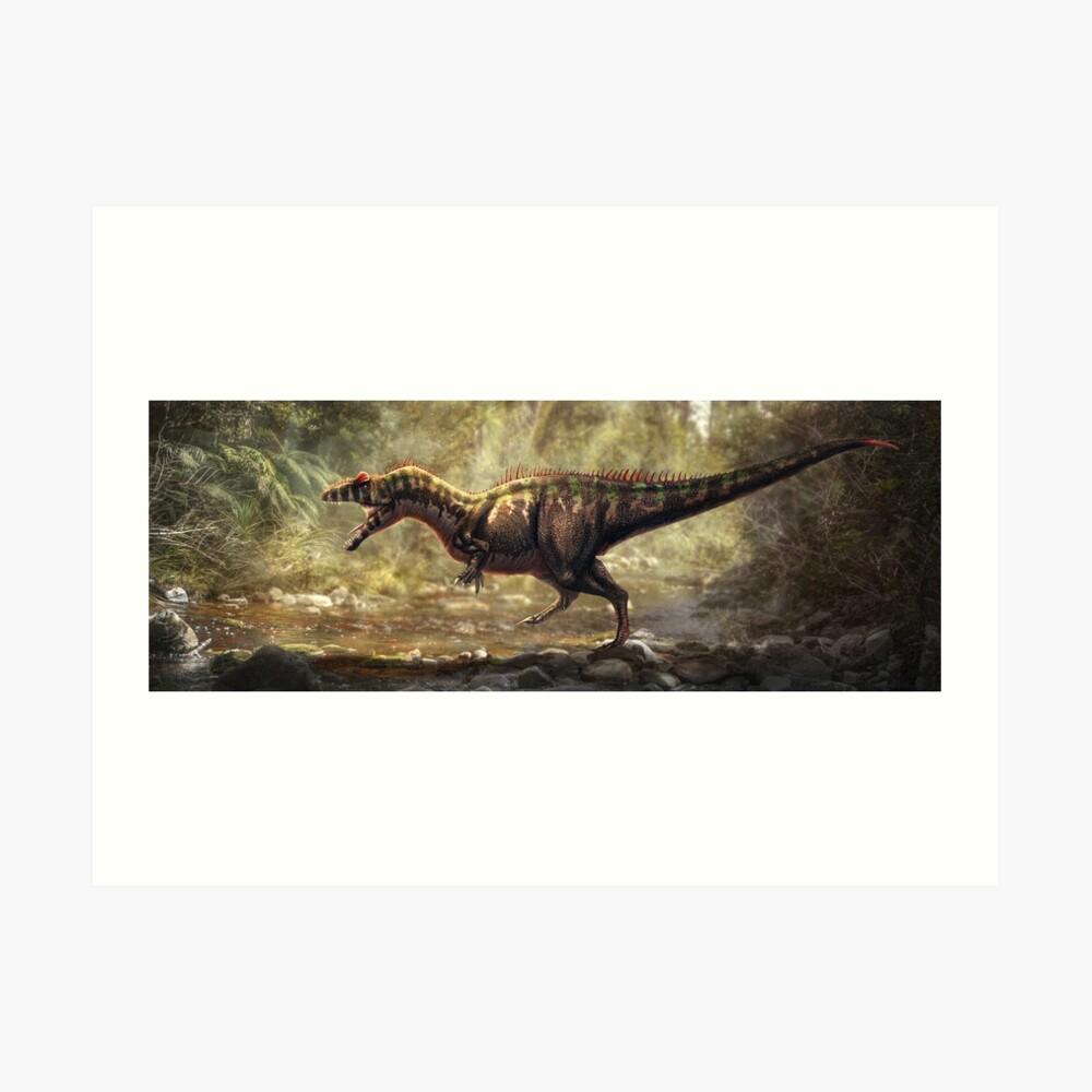 Allosaurus Fragilis restaurado Lámina artística