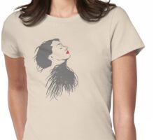 Red Lips Lady Womens Fitted T-Shirt