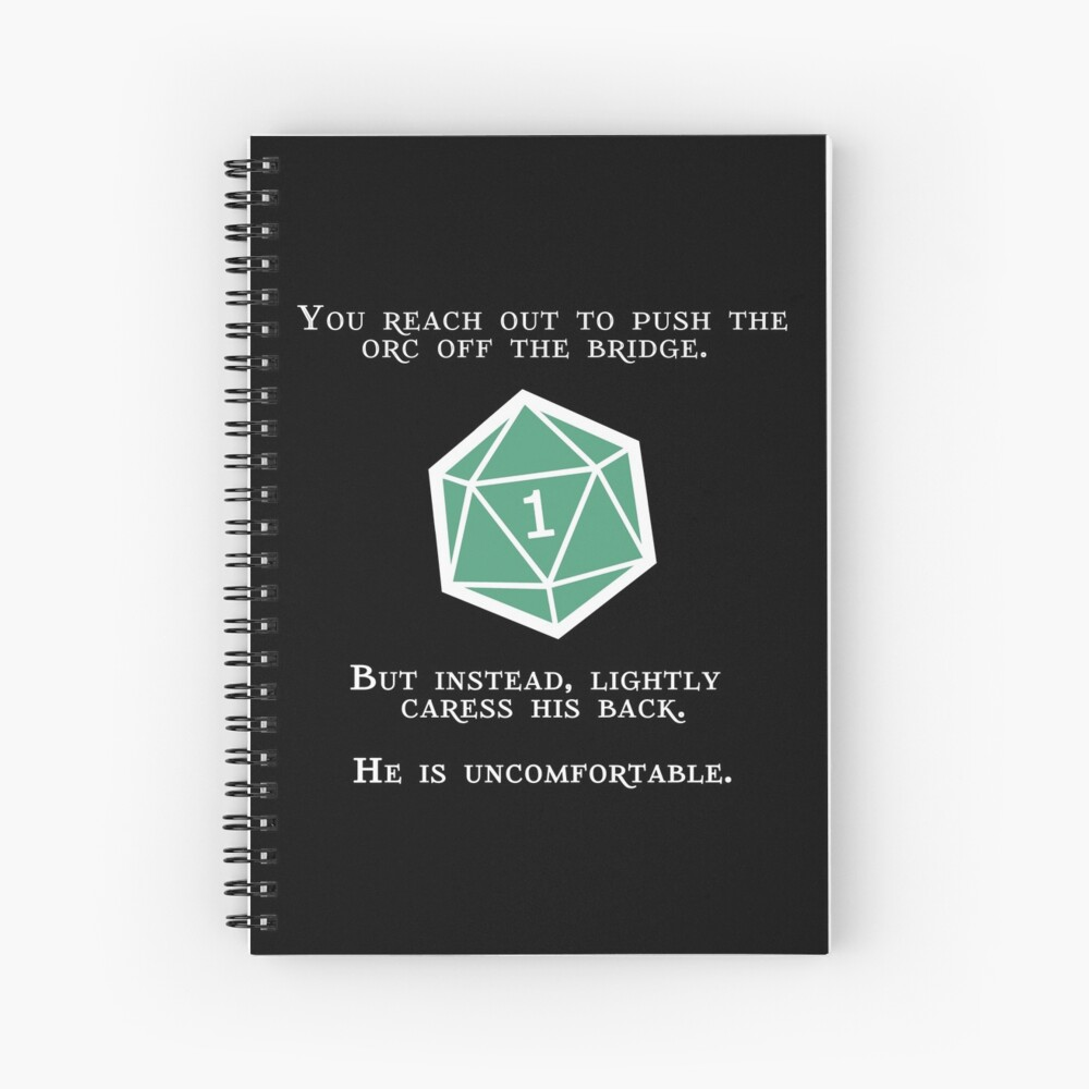 Natural 1 - Orc (White) Spiral Notebook