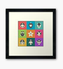 Pop Art Mario & Friends Framed Print