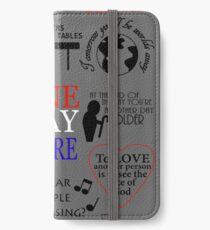 Les Miserables Quotes iPhone Wallet/Case/Skin
