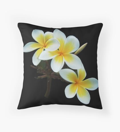 Frangipany Bouquet  Throw Pillow