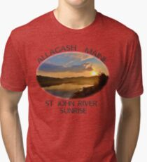 Allagash Maine St John River Sunrise  Tri-blend T-Shirt