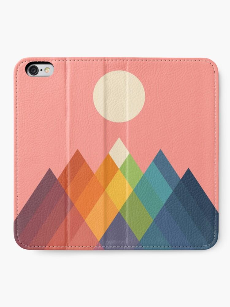 Alternate view of Rainbow Peak iPhone Wallet