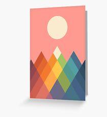 Rainbow Peak Greeting Card