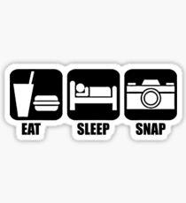 Eat Sleep Snap Sticker