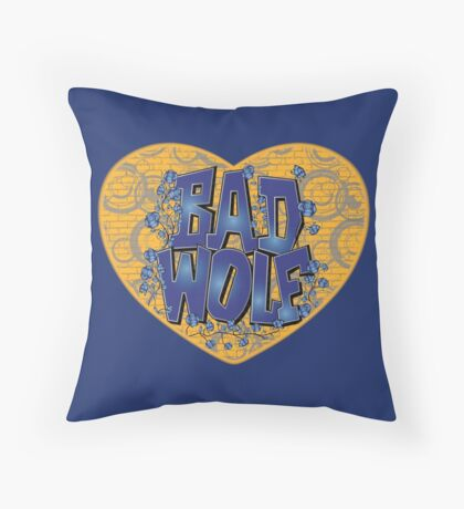 Love The Bad Wolf (Light colours) Throw Pillow