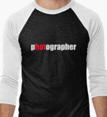 One HOT Photographer Men's Baseball ¾ T-Shirt