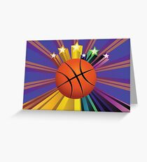 Basketball Ball Background 2 Greeting Card