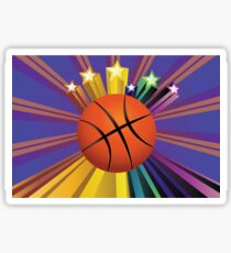Basketball Ball Background 2 Sticker