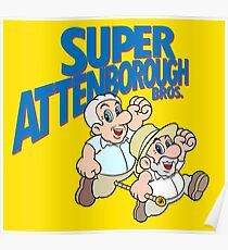 Super Attenborough Bros. Poster