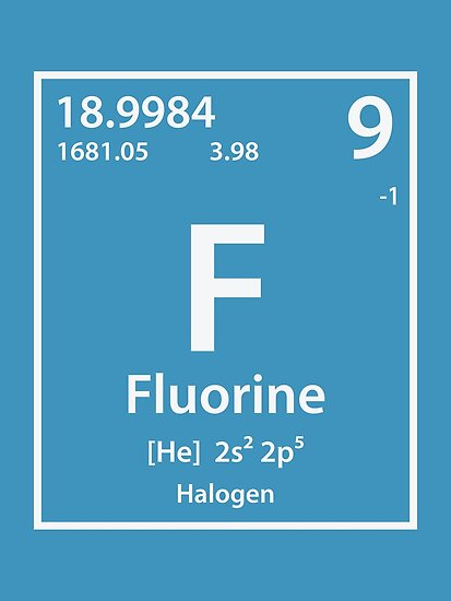 Fluorine Element Posters By Cerebrands Redbubble