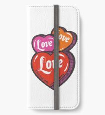 Love Hearts Valentines Cute 1980s Candy Kawaii iPhone Wallet/Case/Skin