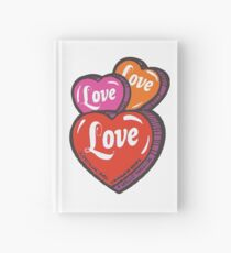Love Hearts Valentines Cute 1980s Candy Kawaii Hardcover Journal