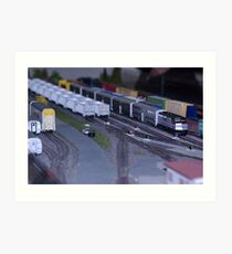 Model Train Show in HO Scale   Art Print