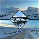 A Country Road in Winter - Collage by MidnightMelody