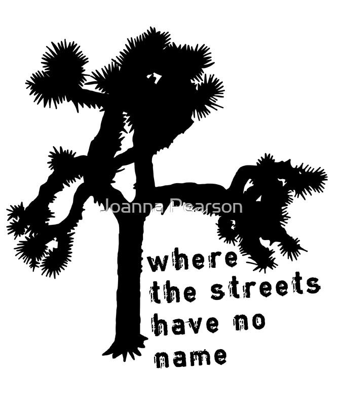 U2 - The Joshua Tree - where the streets have no name   Art Print