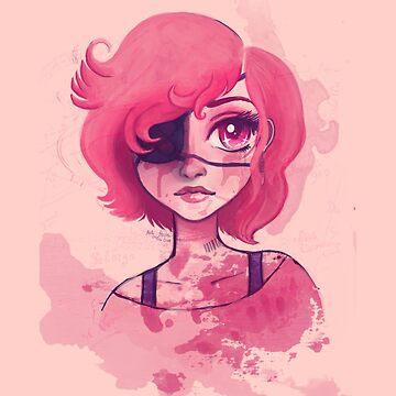 Pink Splatter by katersgonnakate