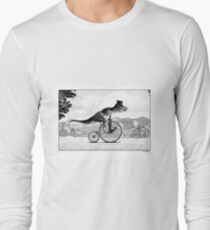 T-Rex on a Penny Farthing Long Sleeve T-Shirt