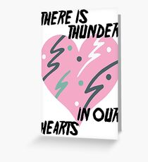Kate Bush Thunder in our Hearts Greeting Card