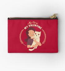 My Cat Is My Valentine Studio Pouch