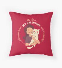 My Cat Is My Valentine Floor Pillow