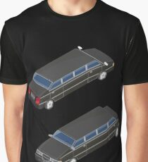 Isometric Transportation. Luxury Limousine Car. Isometric Car. Graphic T-Shirt