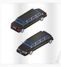 Isometric Transportation. Luxury Limousine Car. Isometric Car. Poster