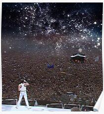 Freddy Mercury Wembley Stadium 1986 Poster
