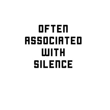 I Am Associated With Silence - a design for quiet people by IGYdesigns