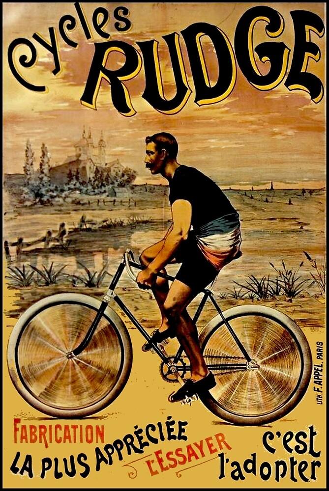 CYCLES RUDGE; Vintage Bicycle Print by posterbobs