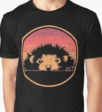 Retro Vintage Pet Hedgehog Graphic T-Shirt