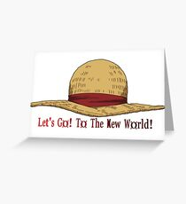 Straw Hat - The New World Greeting Card