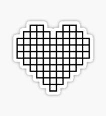 Empty 8bit heart Sticker
