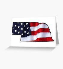 Patriotic Nebraska Greeting Card