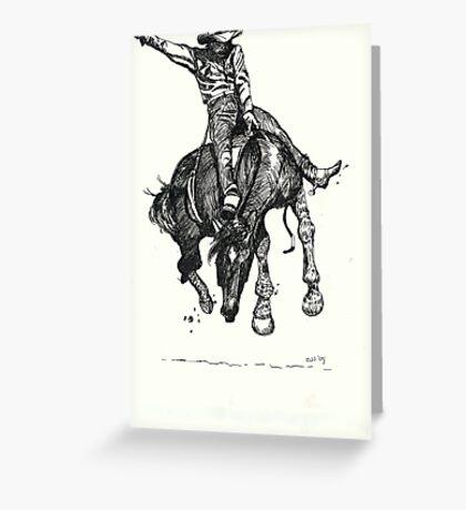 Bronco Mudder Greeting Card