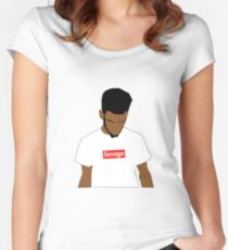 21 SAVAGE  Women's Fitted Scoop T-Shirt