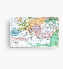 historical map of Europe Canvas Print