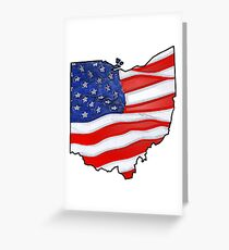 Patriotic Ohio Greeting Card