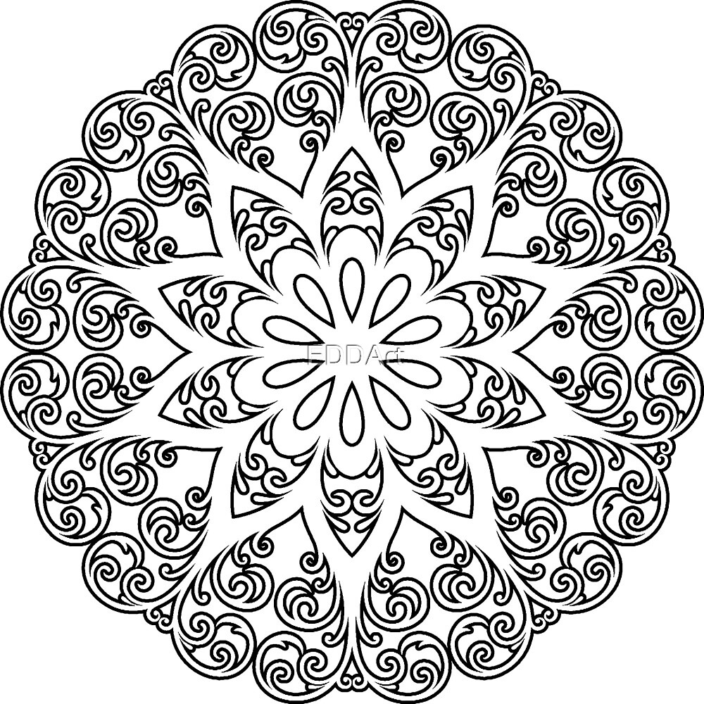 Color Your Own Mandala Diy Coloring Book 01 By Eddart Redbubble